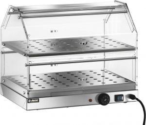VBR4752 Vetrinetta riscaldata acciaio inox 2 piani 50x35x40h