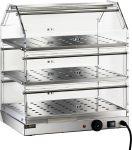 TVBR 4753 Vitrina caliente 3 pisos acero inox 50x35x54h