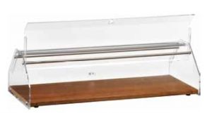 VL4748 Neutral showcase display for brioches Wood Plexiglass cover 50x35x21h