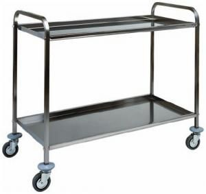 CA 1383 Stainless steel service trolley 2 shelves 111x57x96h