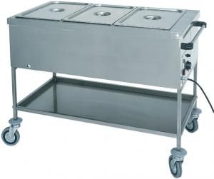 TCTS 1761 Thermal trolley with dry heating element 3x1/1 GN 117x65x85h