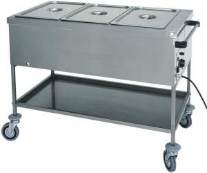 CT1758TD Chariot thermiques bain-marie températures diff 2x1/1GN 84x65x85h