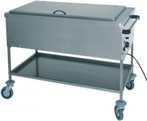 CS1755 Calentador térmico de botellas de baño maría de acero inoxidable con tapa 117x65x85h