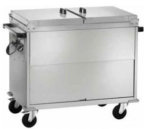 CT1770  Carro baño maría acero inox AISI 304 cubiertas 3x1/1GN 130x68x102h