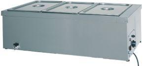 BM1784 Mesa caliente baño maria de acero inoxidable 1x1/1GN grifo 110x60x32h