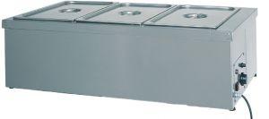 BMS1785 Mesa caliente de acero inoxidable resistencia en seco 3x1/1GN 110x60x32h