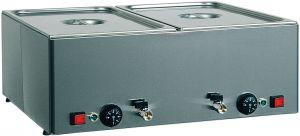 BMV21 Mesa caliente baño maria de acero inoxidable 2x1/1GN Diferentes temperaturas