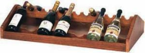 TA 1260 Espositore vini legno noce da appoggio 88x46x19h