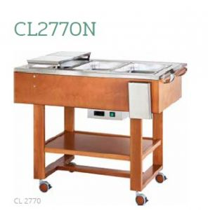 CL2770N Carro de madera asado hervido 3x1/1GN 123x65x95h