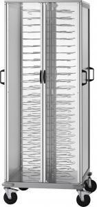 CA1440A Dish cart cabinet Chromium-plated racks 88 plates Ø18/23