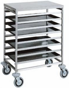 CA1493 Tray rack trolley for bakeries trays 80x60 16 trays 60x40