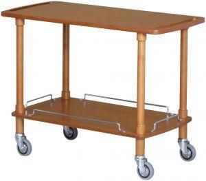 CLP2002 Carrello servizio legno noce chiaro 2 piani 110x55x82h