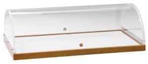 A 1298 Showcase Wood veneer structure Plexiglass cover 90x50x22h