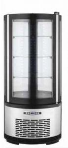 ARC100B Vitrine réfrigérée ronde ventilée avec éclairage LED - capacité 100 lt.