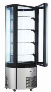 ARC400RC Round ventilated refrigerated display case with led lighting - capacity 400 lt