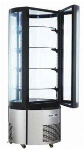 ARC400RC Vitrine réfrigérée ronde ventilée avec éclairage LED - capacité 400 lt