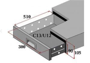 C13-FC Set di 3 cassetti per banchi refrigerati