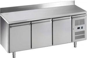 G-GN3200TN-FC Table réfrigérée pour la gastronomie ventilée, structure en acier inoxydable AISI201