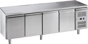 G-GN4100BT-FC Table réfrigérée ventilée en acier inoxydable AISI 201, 4 portes, -18 / -22 ° C