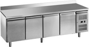 G-GN4200TN-FC Table réfrigérée ventilée 4 portes, inox aisi201, -2 / + 8 ° C