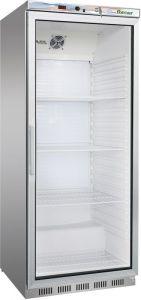 G- ER600GSS Armoire réfrigérée 1 porte vitrée - Capacité de 570 Lt - Châssis en acier inoxydable