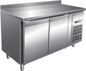 G-GN2200TN - Refrigerated refrigerated table for gastronomy with upstand