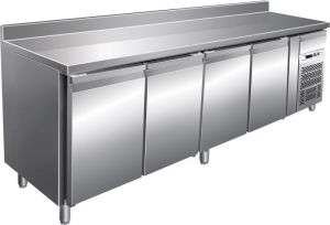 G-GN4200TN - Fridge table with upstand Ventilated 4 doors temp. -2 / + 8 ° C