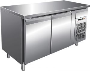 G-PA2100TN Ventilated Refrigerated Table - Two Counters for Pastry Shops