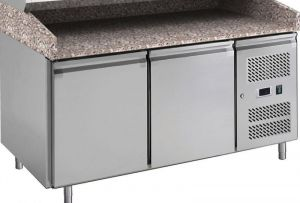 G-PZ2600TN-FC Table réfrigérée avec fonction de comptoir de pizza en acier inoxydable AISI201