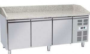 G-PZ3600TN Banco refrigerato pizzeria a tre ante in acciaio inox
