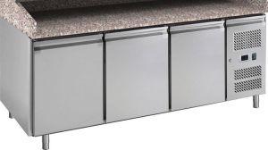 G-PZ3600TN-FC Tavolo refrigerato con funzione di banco pizza, telaio in acciaio inox AISI201
