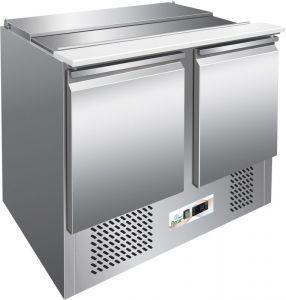 G-S902 - Saladette a refrigerazione statica, struttura inox AISI304, termostato digitale