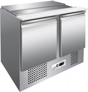 G-S902- Saladette with static refrigeration, stainless steel AISI304 structure, digital thermostat