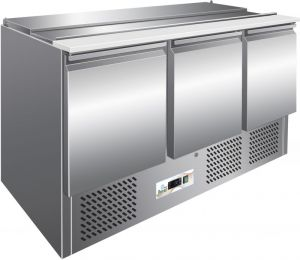 G-S903 Static refrigerated salad bench, AISI304 stainless steel frame,  digital thermostat