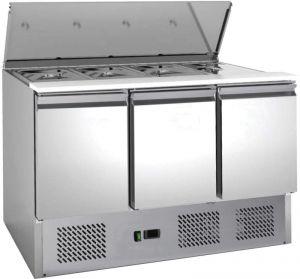 G-S903-FC Banco saladette refrigerato statico, inox AISI201