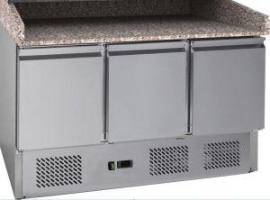G-S903PZ-FC Comptoir de pizza réfrigéré statique avec cadre en acier inoxydable AISI201
