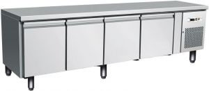 G-UGN4100TN - Table ventilated refrigerated table for gastronomy, 65 cm high