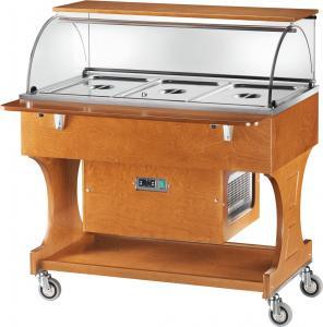 CLR2787NBT Carro refrigerado de madera (-5°+5°) 3x1/1GN cupola plx piso superior