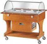 CLR2788N Carrello in legno refrigerato (+2°+10°C) 3x1/1GN Cupola plx