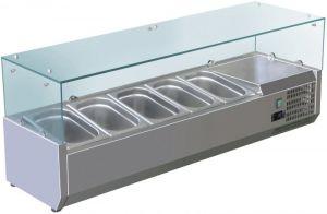 VRX1200-330-FC Vitrine réfrigérée en inox AISI 201 pour lavabos