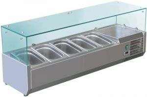 VRX1400-380-FC Vitrine réfrigérée en inox AISI 201 pour lavabos