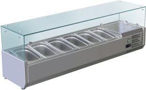 VRX1500-380-FC Vitrine réfrigérée en inox AISI 201 pour lavabos