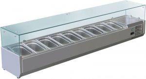 VRX1800-330-FC Vitrine réfrigérée en inox AISI 201 pour lavabos