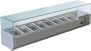 VRX1800-380-FC Vitrine réfrigérée en inox AISI 201 pour lavabos