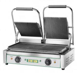 EG03 Plaque de cuisson en fonte double, haut rayé 3600W