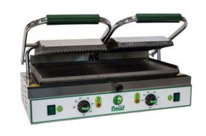 PE50LNT Plaque de cuisson en fonte double lisse / striée triphasée 3400W