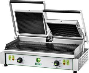 PE50RN  Plaque electrique de cuisson en fonte rainuree double monophasé 3400W