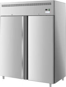 G-GN1410TN-FC - Réfrigérateur ventilé, temp. -2 / + 8 ° C, double porte, cadre en acier inoxydable AISI201
