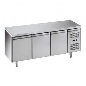 G-PA3200TN-FC Table réfrigérée pâtisserie - 3 portes - Temp -2 ° + 8 ° C - Capacité Lt 580