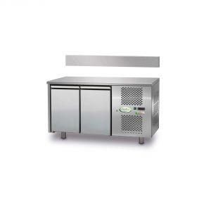 FTRA2TN - Tavolo Refrigerato Ventilato 2 porte - 0/+10° - CON ALZATINA